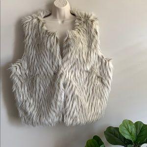 Cynthia Rowley Plus Size Faux Fur Vest